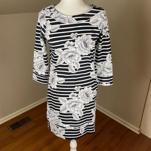 Lands End Striped Dress XS